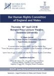 Bar Human Rights Committee Event © 2019 Wales & Chester Circuit